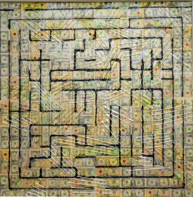 Maze, 16' x 16' Acrylic and Metallic Paint